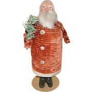 Vintage German Chenille Santa Claus Candy Container