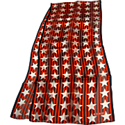 "50"" Patriotic Stars & Stripes Pure Silk Scarf by Echo"