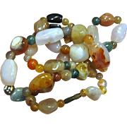"Mixed Agate ""Gypsy"" Necklace"