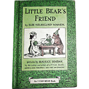 Little Bear's Friend by Else Holmelund Minarik, 1960 HC, An I Can Read Book