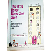 This is the House Where Jack Lives by Joan Heilbroner, 1962 HC, Near Mint