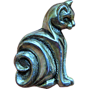 Sterling Art Deco Cat Pin, Delicate & Stylish!