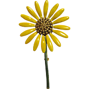 Original by Robert Enamel Sunflower Pin