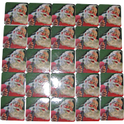 25 Coca Cola Christmas Drink Coaster, 1990's  Santa Claus, Mint Like New