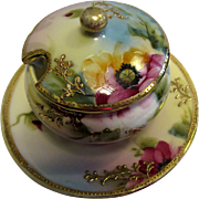 1891 Nippon Sugar Bowl, Hand Painted, Gold Encrusted