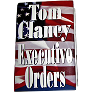 "Autographed ""Executive Orders"" by Tom Clancy, Hand Signed, HCDJ, Like New"