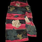 """Liz Claiborne 52"""" Sq Polyester Chiffon Leaf Design Scarf"""
