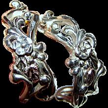 Sterling & 12k Black Hills Gold Half Hoop Earrings, 5.8 grams