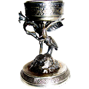 Victorian Quadruple Silver Plated Figural Open Salt by Simpson Hall Miller & Co.