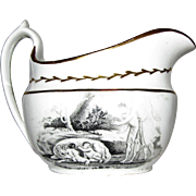 c.1820's Staffordshire Transferware Cream Pitcher, Romulus & Remus