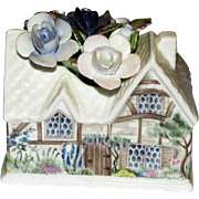 Beautiful Royal Albert Bone China Cottage with Flowers in the Moonlight Rose Pattern