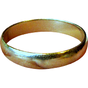 Classic 5 mm 10 K Yellow Gold Wedding Band, Sz 10