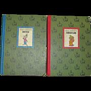 1965, Walt Disney's Fantasyland & America, HC Illustrated Children Stories