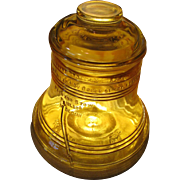 Opalescent Amber Commemorative 1776-1976 Liberty Bell Cookie Jar