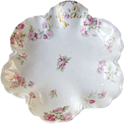 Beautiful French Limoges Floral Bowl for Mermod & Jacarrod Jewelers