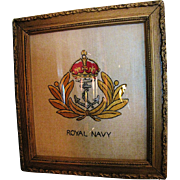WW1 Royal Navy Embroidered Insginia