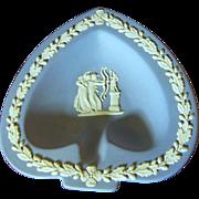 Prettiest Blue Jasper Wedgwood Heart Shaped Trinket Bowl