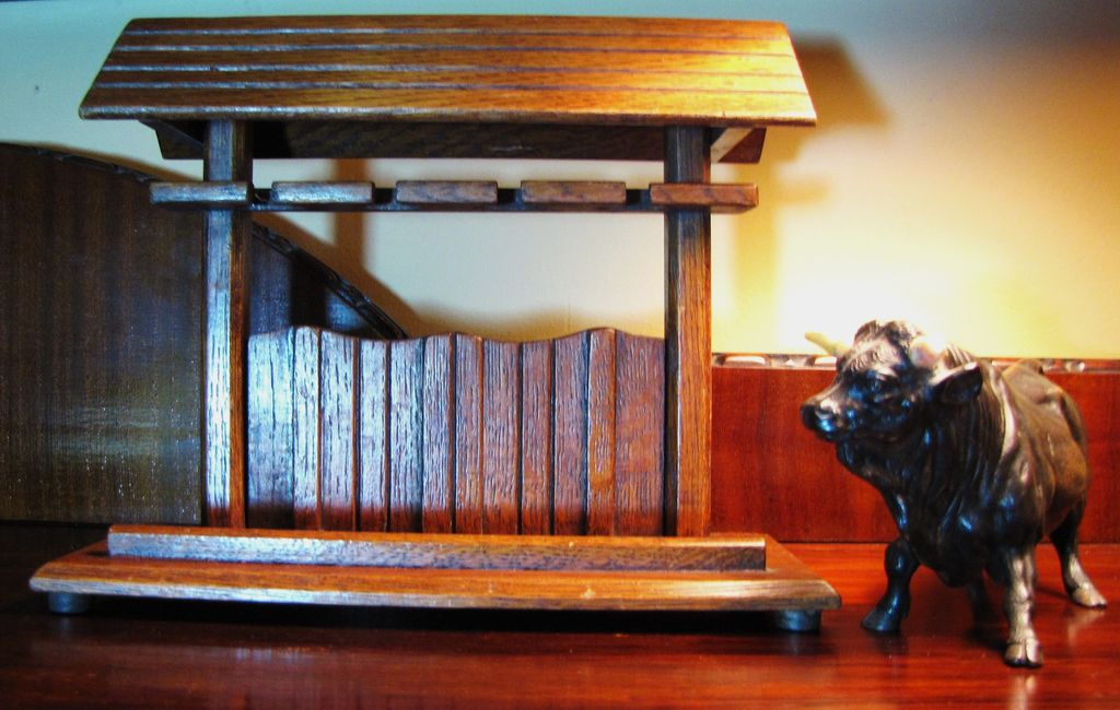 "Stunning Oak ""Barn"" circa 1930's Pipe Rack, Beautifully Made"