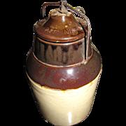 1900's, Antique Stoneware Jam/Fruit Jar 1899 - 1905