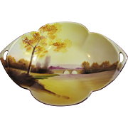 "Noritake ""Tree In The Meadow"" Small Handled Dish 1918, Beautiful"