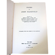 1925, Poems by John Mansfield, HB, Monk Family S.C. Provenance