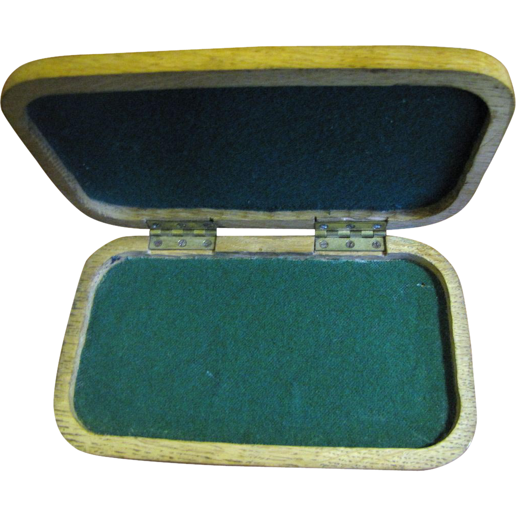 Nice Hand Carved Oak Instrument Storage Case