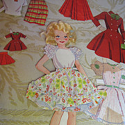 "1950's Miss Candy Stand Up Doll with Own Doll & ""Real Hair"""