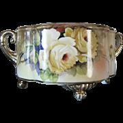 1918 Hand Painted Noritake Morimura Gilt Floral Bowl