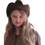 Cool Ranch Dressing Brown Felt Cowboy Hat