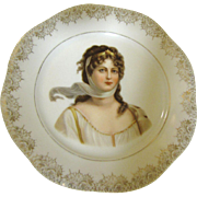Beautiful Z. S. & Co Mignon Bavaria Portrait Plate of Queen Louise