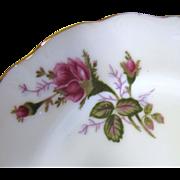 "Charming Set of Six Moss Rose Pattern 7"" Plates, Mid Century Japan"