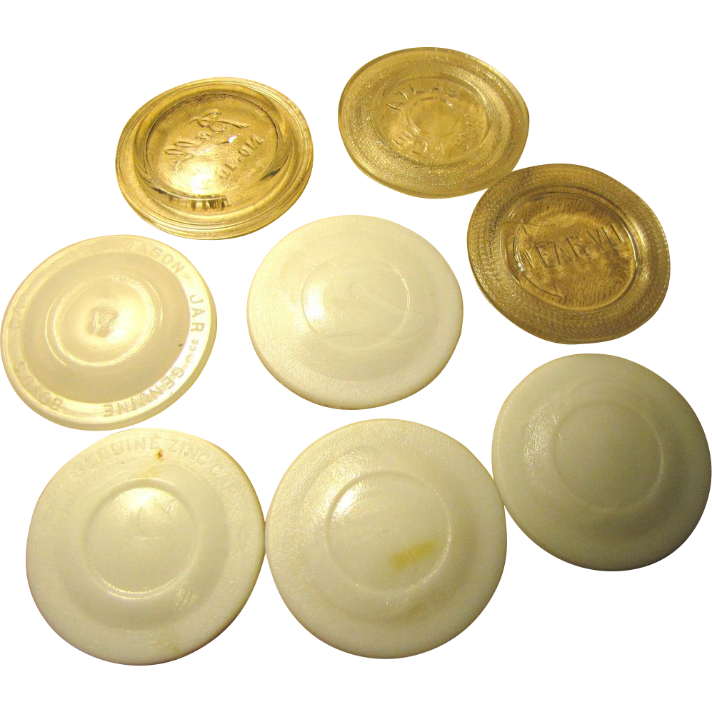 Mixed Vintage Collection Of 8 Old Clear And Milk Glass