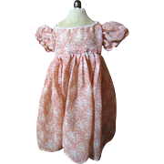 Pretty Batiste Mid Century Factory Dress for Medium Doll