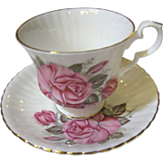 Lovely Royal Windsor Rose Pattern China Cup and Saucer
