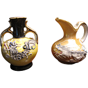 Lovely Pair of Miniature Japanese Dragonware Vases, Perfect Doll Scale