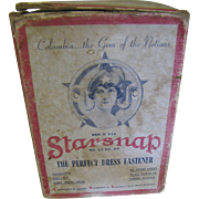 Nice Old Art Deco Starsnap Dress Fastener Box