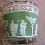 Lovely Jeannette Ice Bucket in the Green Hellenic Pattern