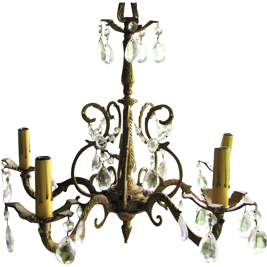 Stunning Cast Gilt Brass Small Vintage 5 Arm Chandelier SOLD on – Small Vintage Chandelier
