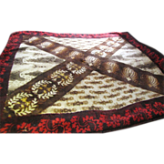 Stunning Victorian Chase Buggy Blanket, Great Abstract Design!