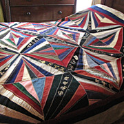 Stunning Victorian Wedding Gift Quilt, 17 Signatures,on SALE