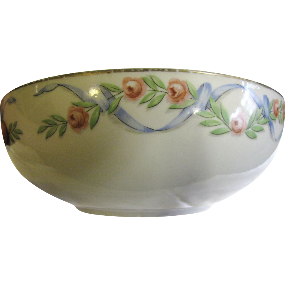 """Nice Hall's 1940's 9"""" Wildfire Serving Bowl"""