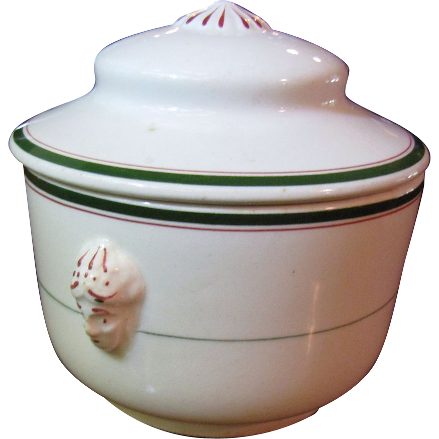 Fantastic John Maddock Victorian Soap or Shaving Bowl by with Lady Head Handles!