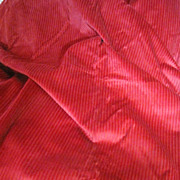 """Wonderful 3yds 24"""" Long Bolt End of Red Wide Weave Upholstery Corduroy"""