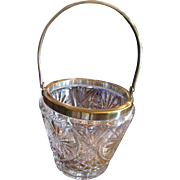 Lovely Smaller Scale High Quality Crystal and Silver Plated Ice Bucket