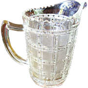 Beaded Block Pitcher, 1930's, Imperial Glass