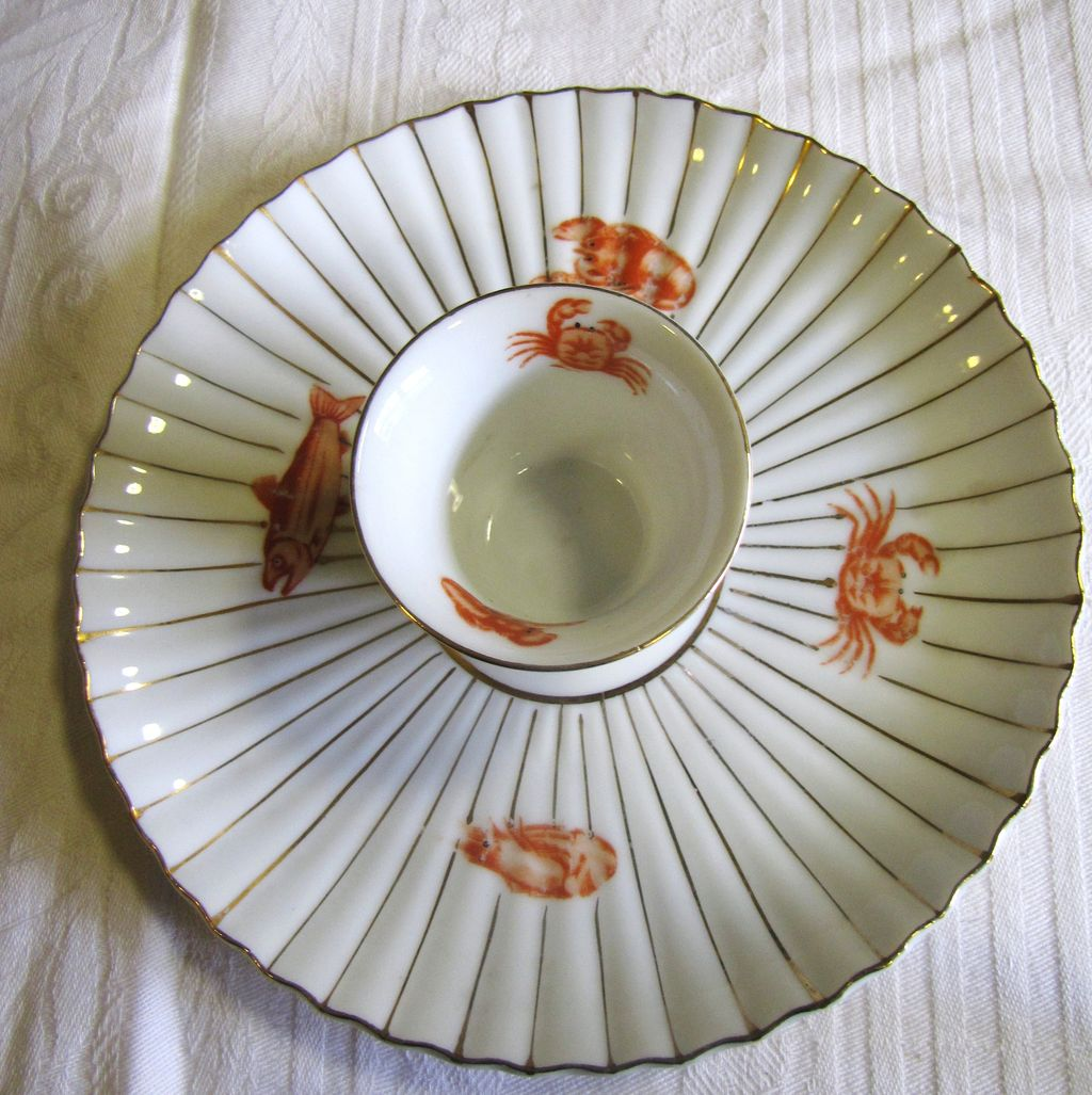Super Old Seafood Serving Plate with Shrimps, Lobsters, Crabs, Fun Decoration!