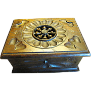 Super Antique Hand Carved  Small Trinket or Card Box from Brittany