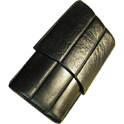 Vintage Leather Three Cigar Case, Sturdy, Elegant, Great Condition