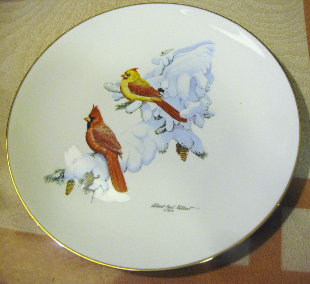 "Halbert's  ""Cardinal in Snow""1974 by Albert Earl Gilbert"