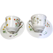 Royal Doulton Springtime Pattern,Two Cup & Saucers Sets
